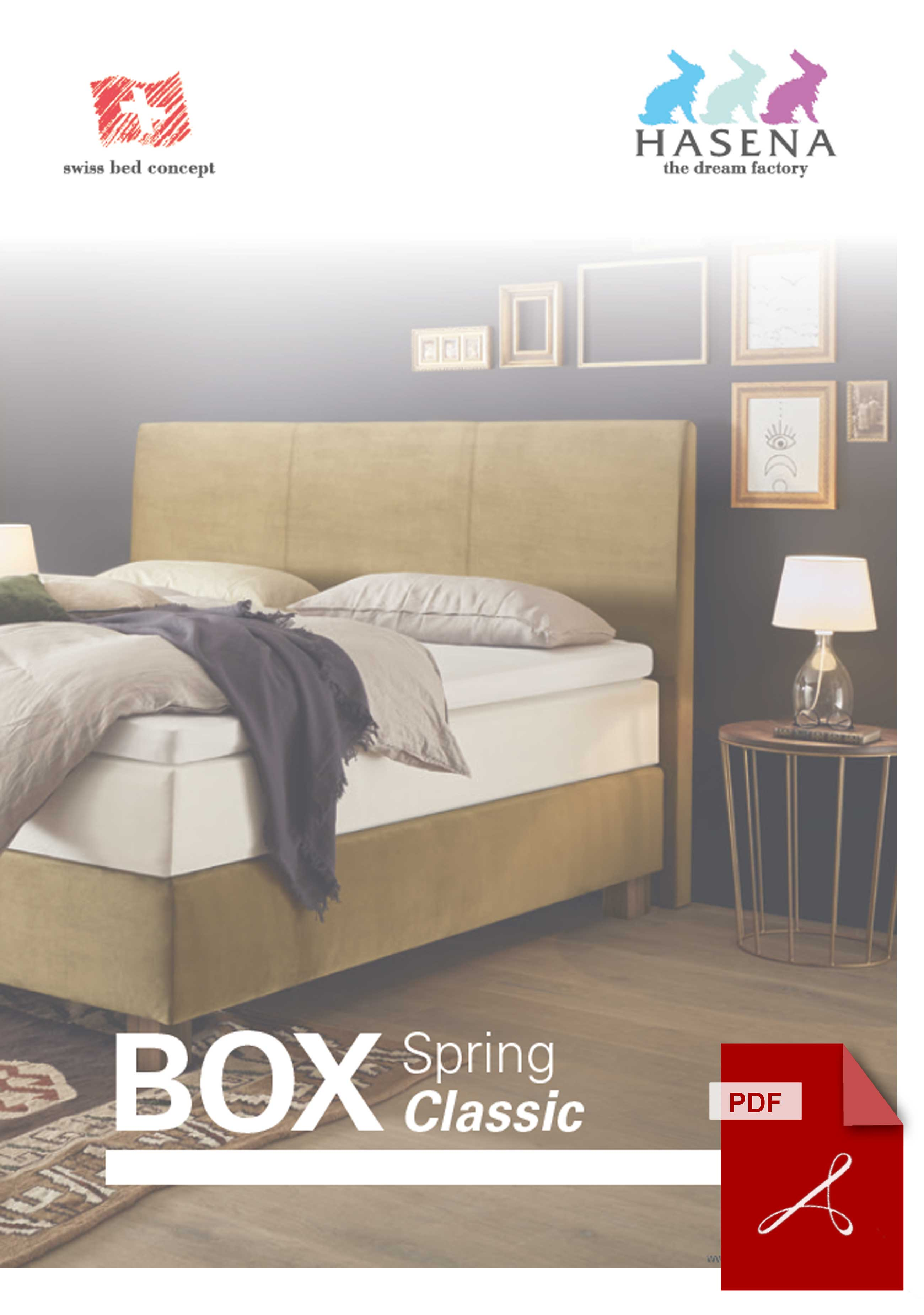 Katalog Hasena Boxspringbett Classic zum Download