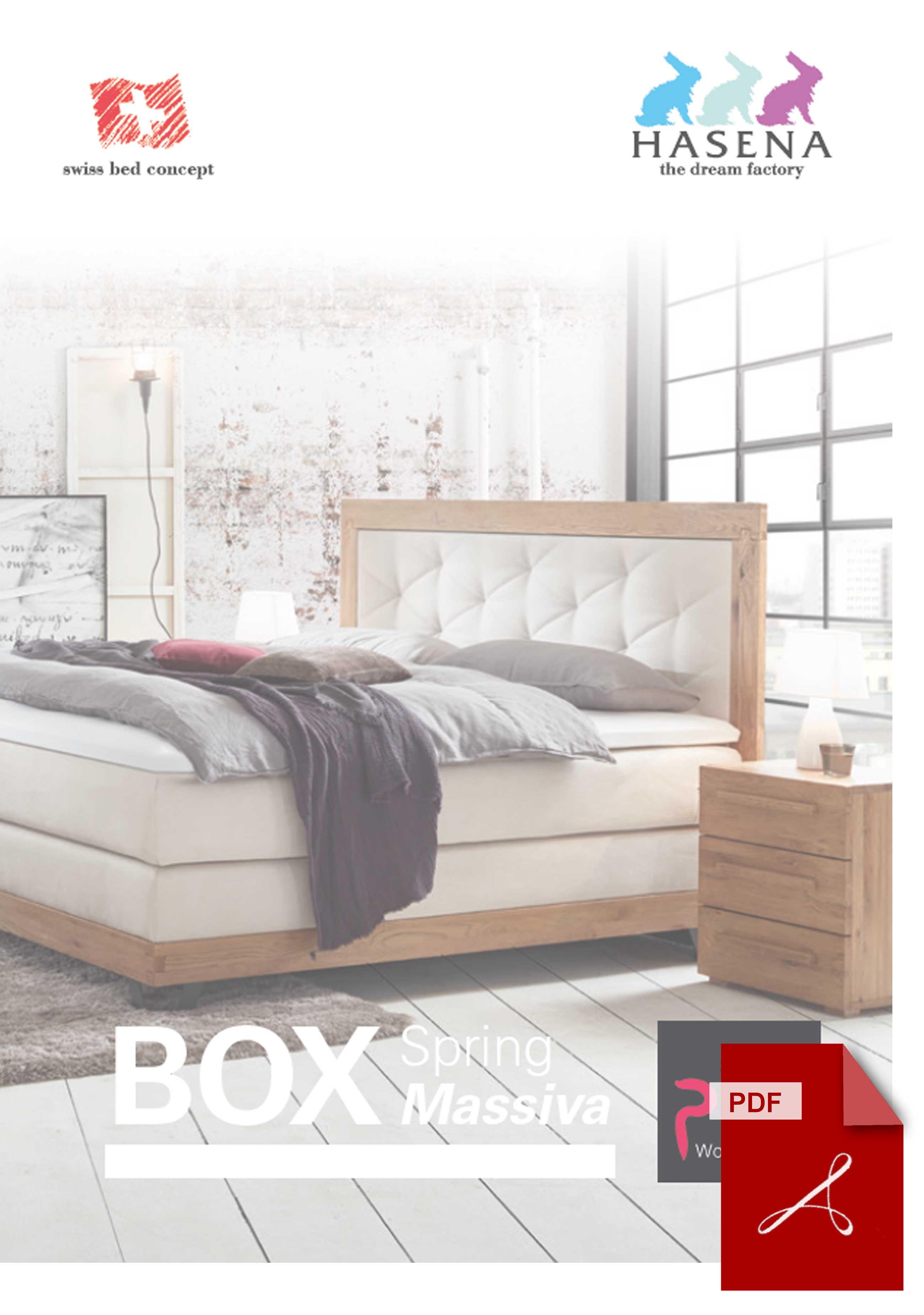 Katalog Hasena Boxspringbett Massiva zum Download