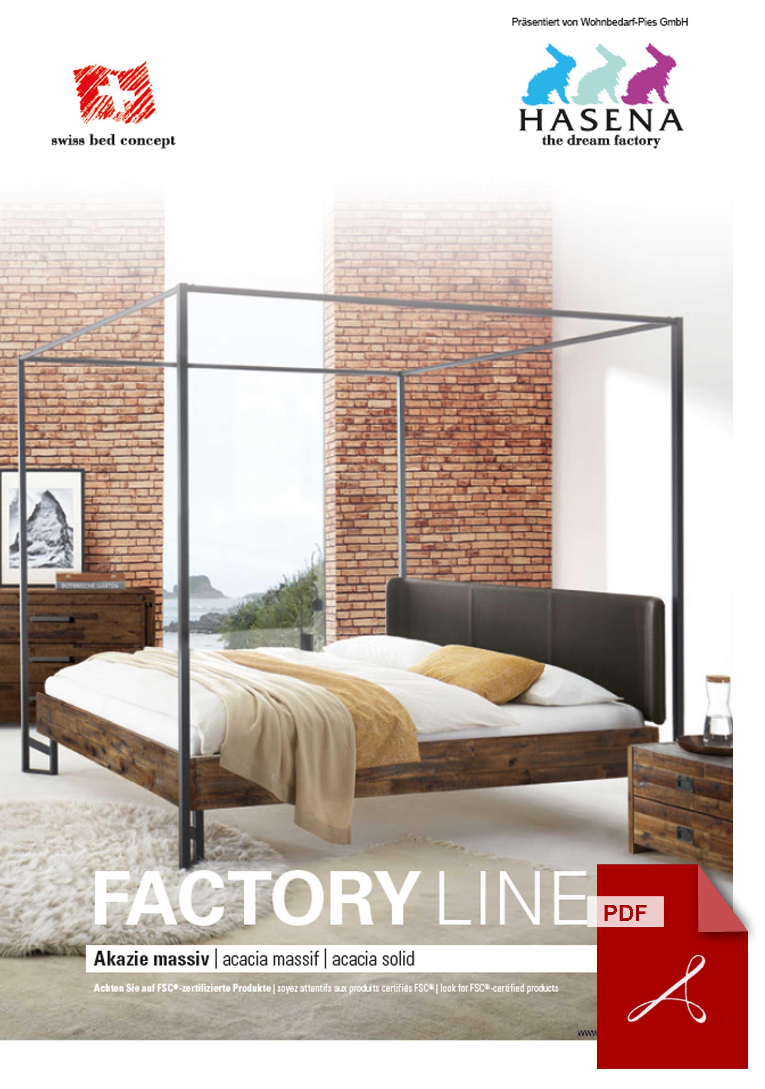 Hasena Factory Line Katalog als PDF Datei