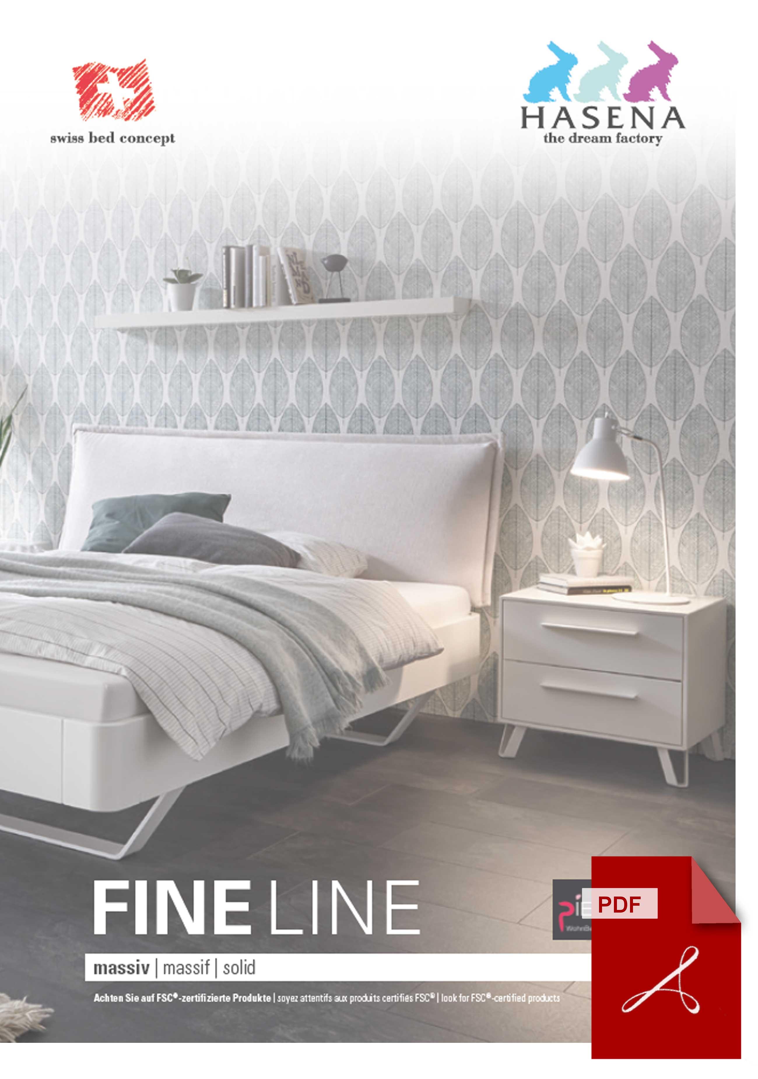 Hasena Fine Line Katalog als PDF Datei
