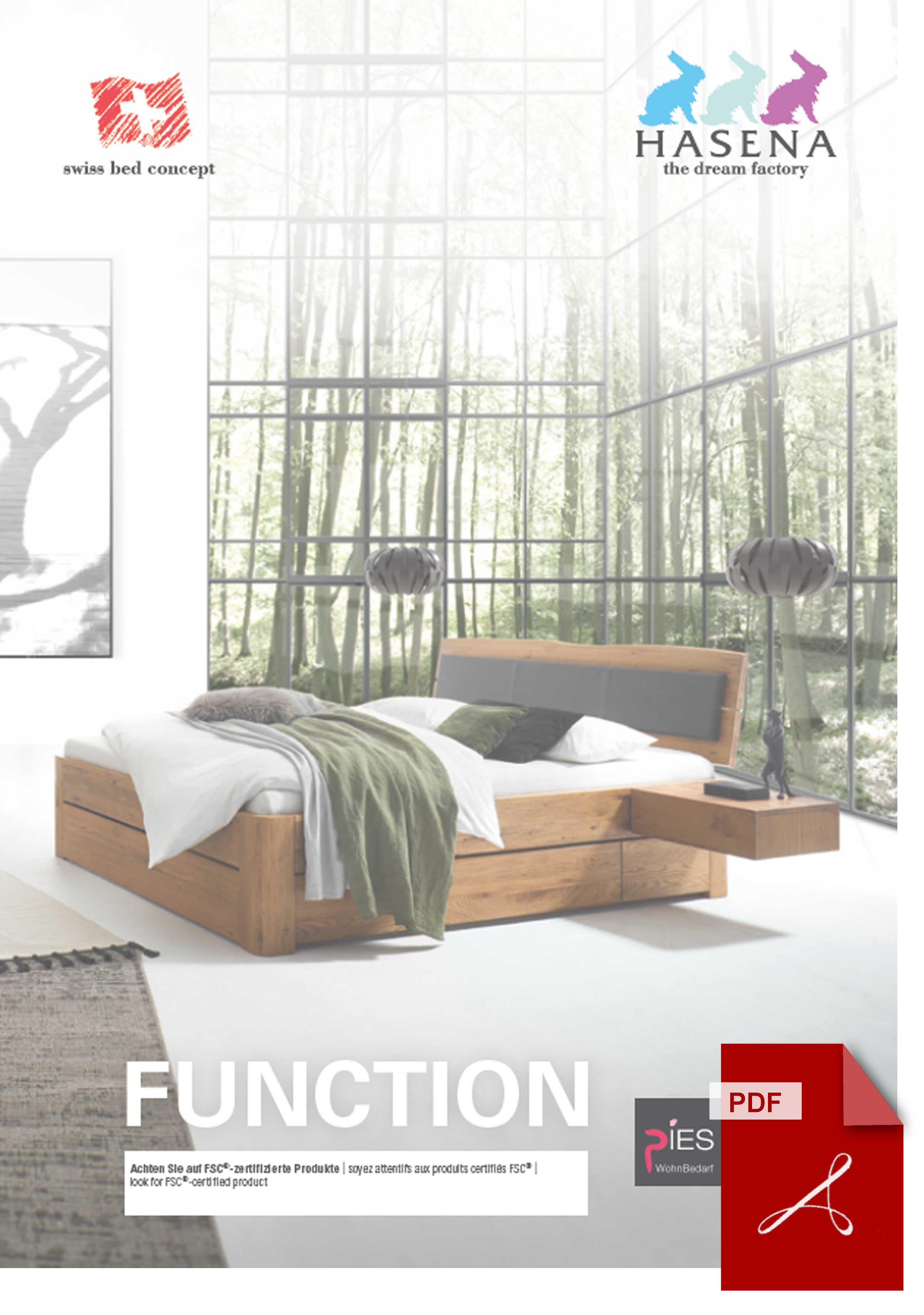 Hasena Function & Comfort Katalog als PDF Datei