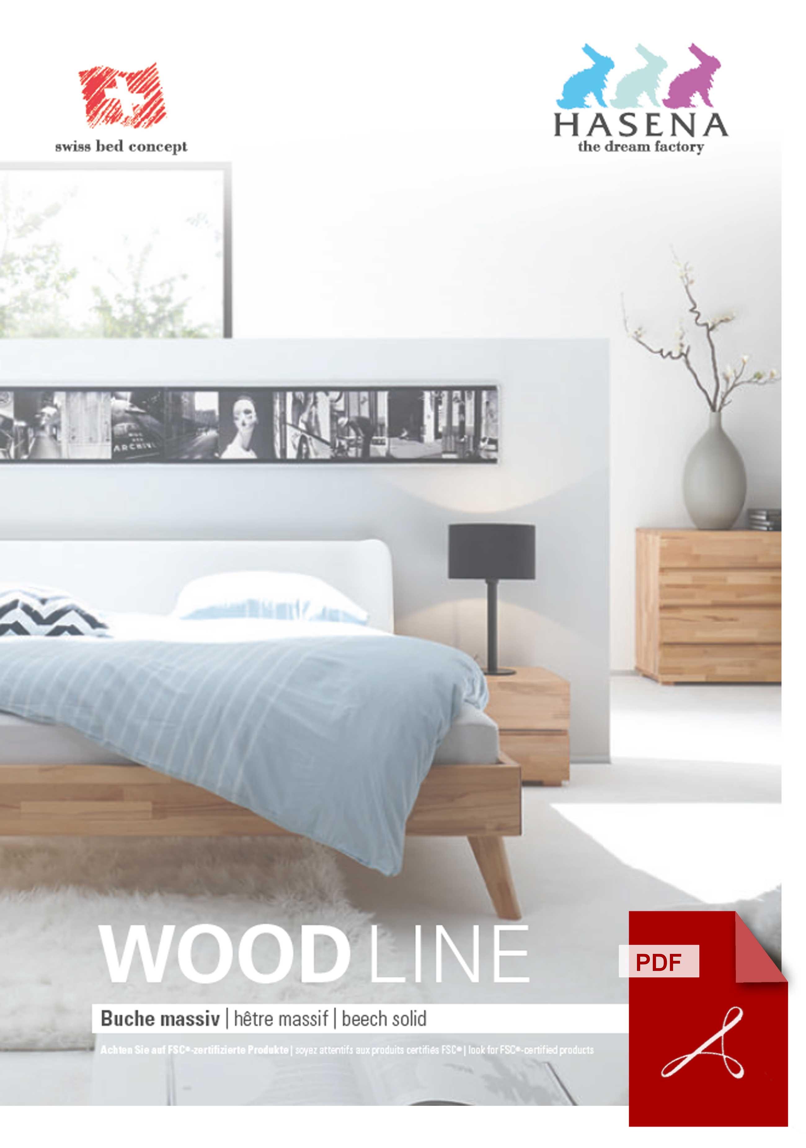 Hasena Wood Line Katalog als PDF Datei