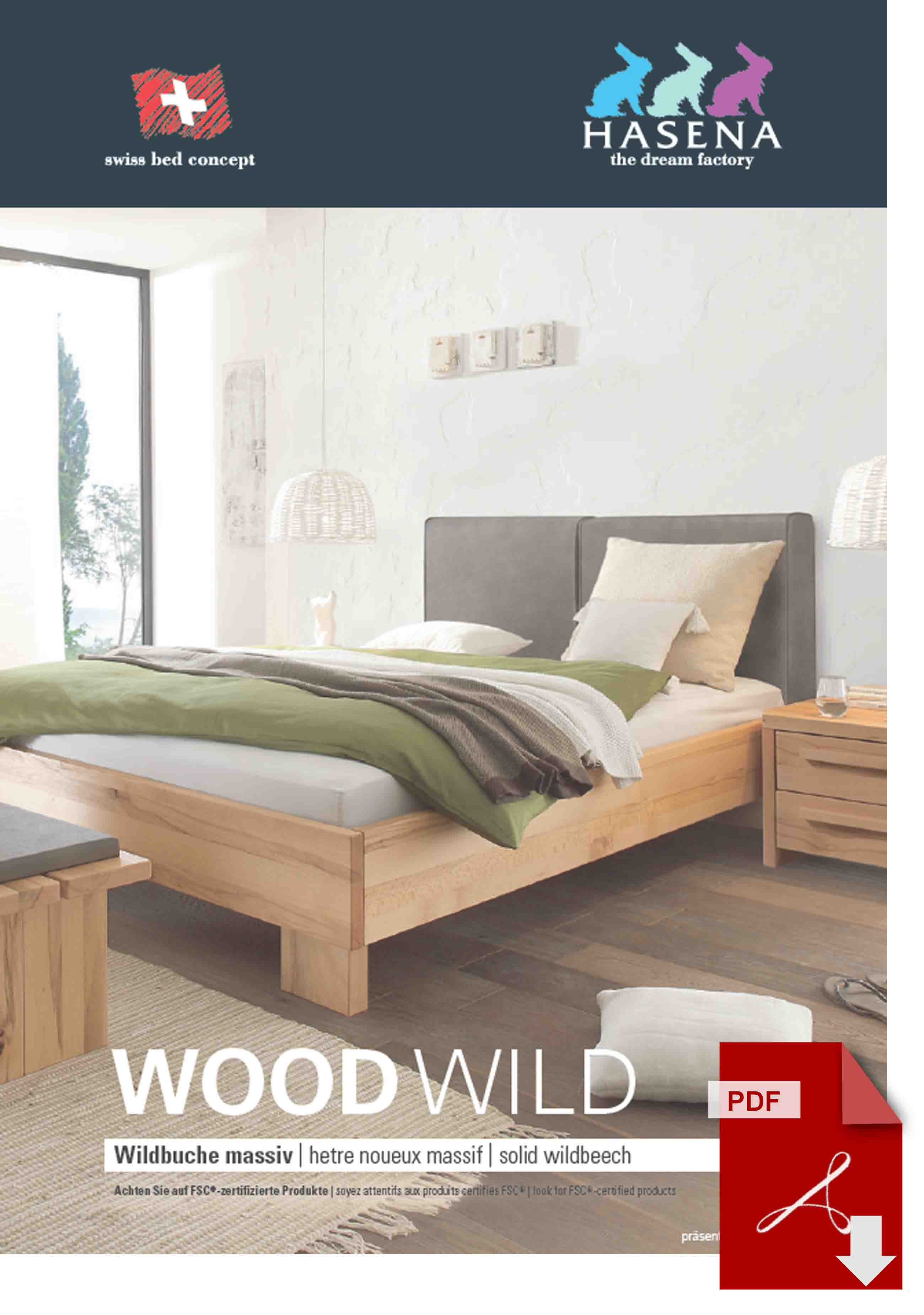 Hasena Wood Wild Katalog als PDF Datei