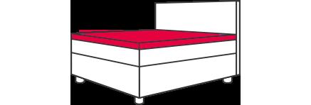 Hasena Boxspring-Bett: Topper